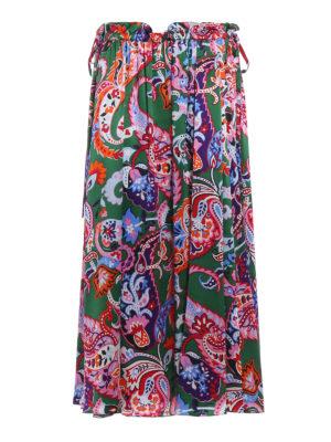 Kenzo: Knee length skirts & Midi - Paisley print silk skirt