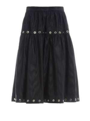 Kenzo: Knee length skirts & Midi - Taffeta A-line skirt with eyelets
