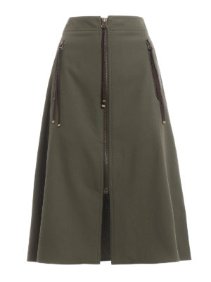 Kenzo: Knee length skirts & Midi - Zipped cotton skirt