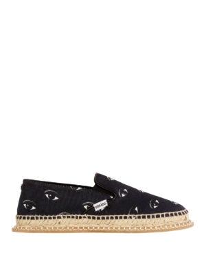 Kenzo: Loafers & Slippers - Eyes printed slip – on