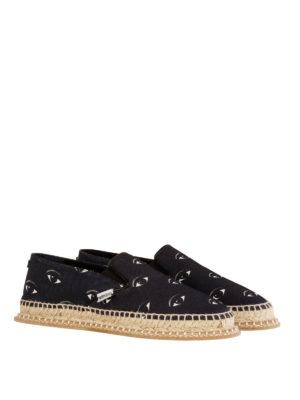 Kenzo: Loafers & Slippers online - Eyes printed slip – on