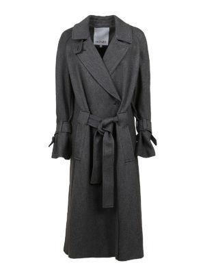KENZO: long coats - Wool blend coat