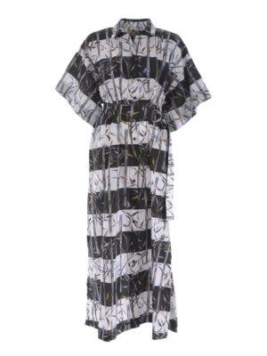 KENZO: abiti lunghi - Abito maxi Bamboo Stripes