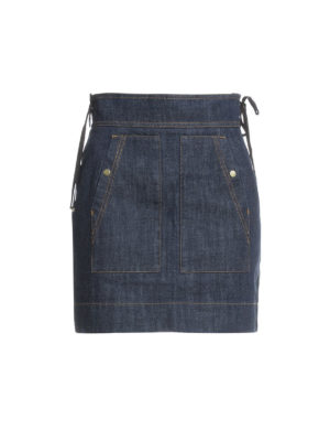 Kenzo: mini skirts - Denim high waisted mini skirt