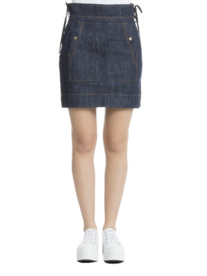 Kenzo: mini skirts online - Denim high waisted mini skirt