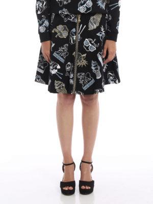 Kenzo: mini skirts online - Embroidered zipped skirt