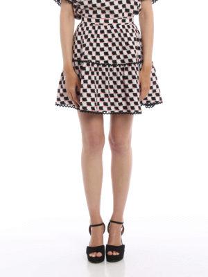 Kenzo: mini skirts online - Printed silk mini skirt