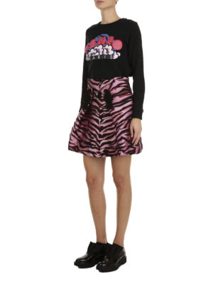 Kenzo: mini skirts online - Silk blend Tiger print skirt