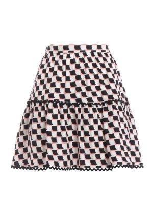 Kenzo: mini skirts - Printed silk mini skirt