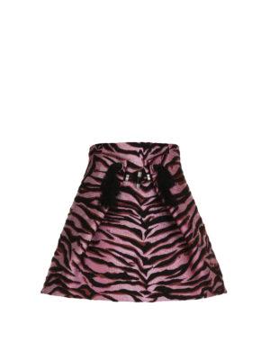 Kenzo: mini skirts - Silk blend Tiger print skirt