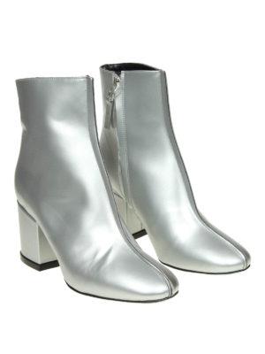 KENZO: tronchetti online - Tronchetti Daria in pelle argento