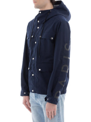 KENZO: giacche casual online - Field jacket in twill di cotone blu