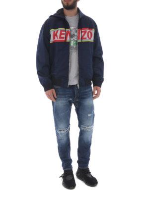 KENZO: giacche casual online - Giacca in cotone con intarsio logo