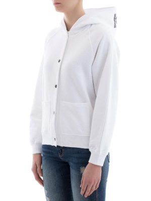 KENZO: giacche casual online - Giacca stile felpa in cotone bianco