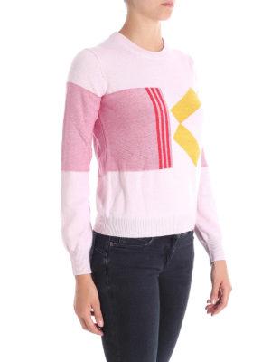 KENZO: maglia collo rotondo online - Girocollo in misto lana con motivo K