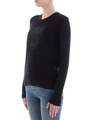 KENZO: maglia collo rotondo online - Pull Tiger in cotone lavorato