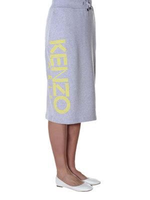 KENZO: gonne al ginocchio  e longuette online - Gonna Kenzo in felpa di cotone