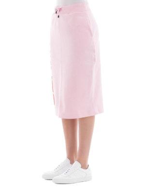 KENZO: gonne al ginocchio  e longuette online - Gonna Kenzo in felpa di cotone rosa