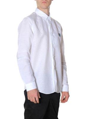 KENZO: camicie online - Camicia Tiger in lino e cotone