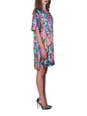 KENZO: abiti corti online - Abito in seta paisley colorato