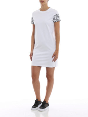KENZO: abiti corti online - Abito T-shirt con logo sportivo Kenzo
