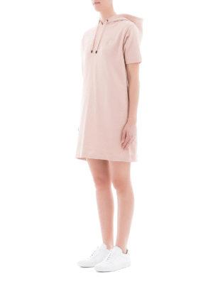 KENZO: abiti corti online - Abito stile felpa rosa con logo