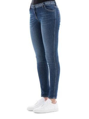 KENZO: jeans skinny online - Jeans skinny con stampa logo