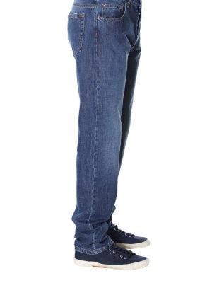 a sigaretta - Jeans slim fit con stampa strisce