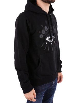 KENZO: Felpe e maglie online - Felpa Eye nera con cappuccio
