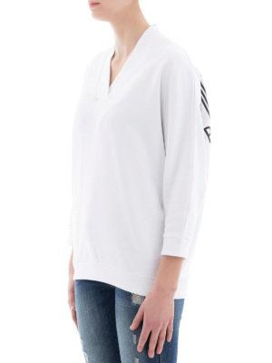 KENZO: Felpe e maglie online - Felpa a V con stampa logo