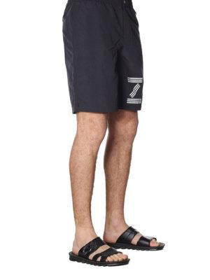 KENZO: Costumi piscina e boxer online - Boxer da mare neri con stampa logo