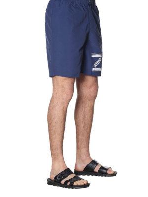 KENZO: Costumi piscina e boxer online - Boxer da mare blu con stampa logo