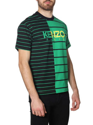 KENZO: t-shirt online - T-shirt a righe color block