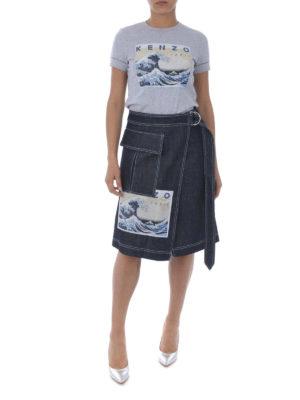 KENZO: t-shirt online - T-shirt Kanagawa Wave