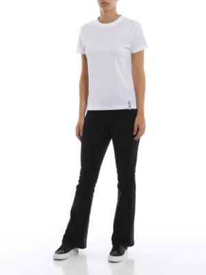 KENZO: t-shirt online - T-shirt bianca in cotone con etichetta