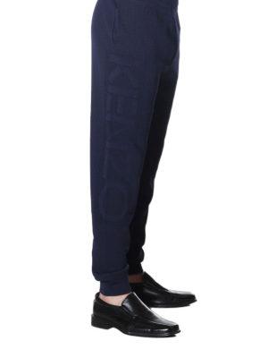 KENZO: pantaloni sport online - Joggers in maglia a costine