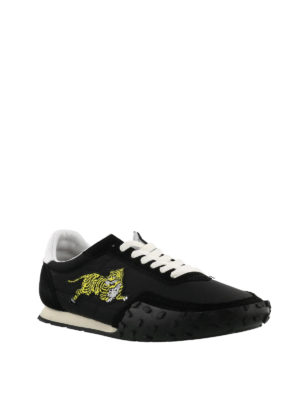 KENZO: sneakers online - Sneaker Move nere in suede e nylon