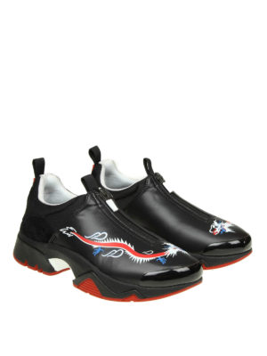 KENZO: sneakers online - Slip-on Sonic 'Dragon' con zip