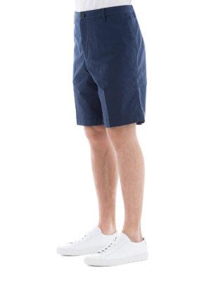 KENZO: pantaloni shorts online - Bermuda in cotone stretch blu