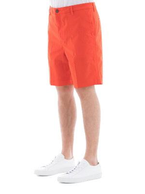 KENZO: pantaloni shorts online - Bermuda cotone stretch rosso chiaro