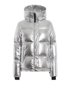 KENZO: giacche imbottite - Piumino con cappuccio in nylon metallizzato
