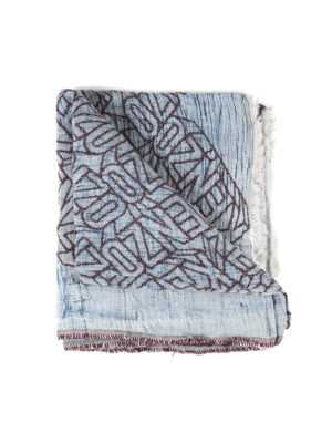 Kenzo: scarves - Cotton blend Kenzo sign foulard