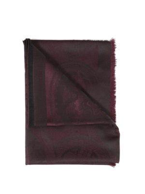 Kenzo: scarves - Jacquard silk and wool blend scarf