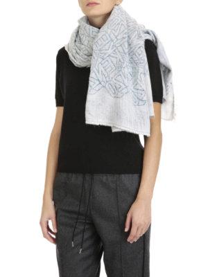 Kenzo: scarves online - Cotton blend Kenzo sign foulard