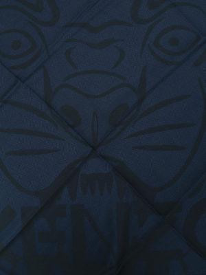 Kenzo: scarves online - Tiger Head dark blue cotton scarf