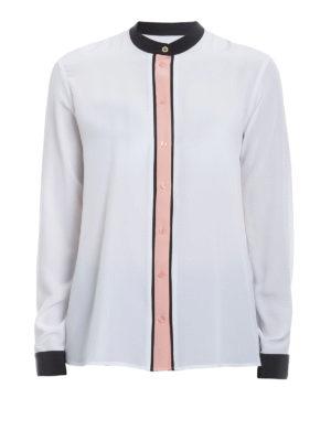 Kenzo: shirts - Contrasting trimmed silk shirt