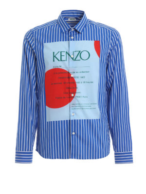 KENZO: shirts - Invitation print striped shirt