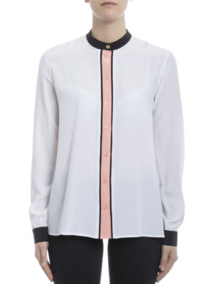 Kenzo: shirts online - Contrasting trimmed silk shirt