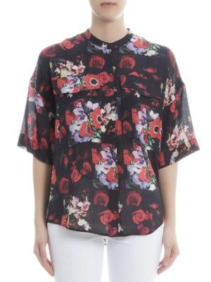 Kenzo: shirts online - Flower print silk over shirt