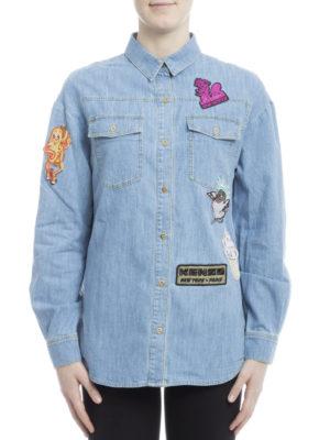 Kenzo: shirts online - Patch detail denim boyfriend shirt